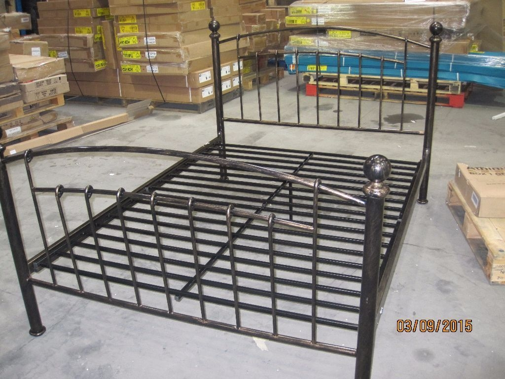 Iceland Wrought Iron Double Bed Frame