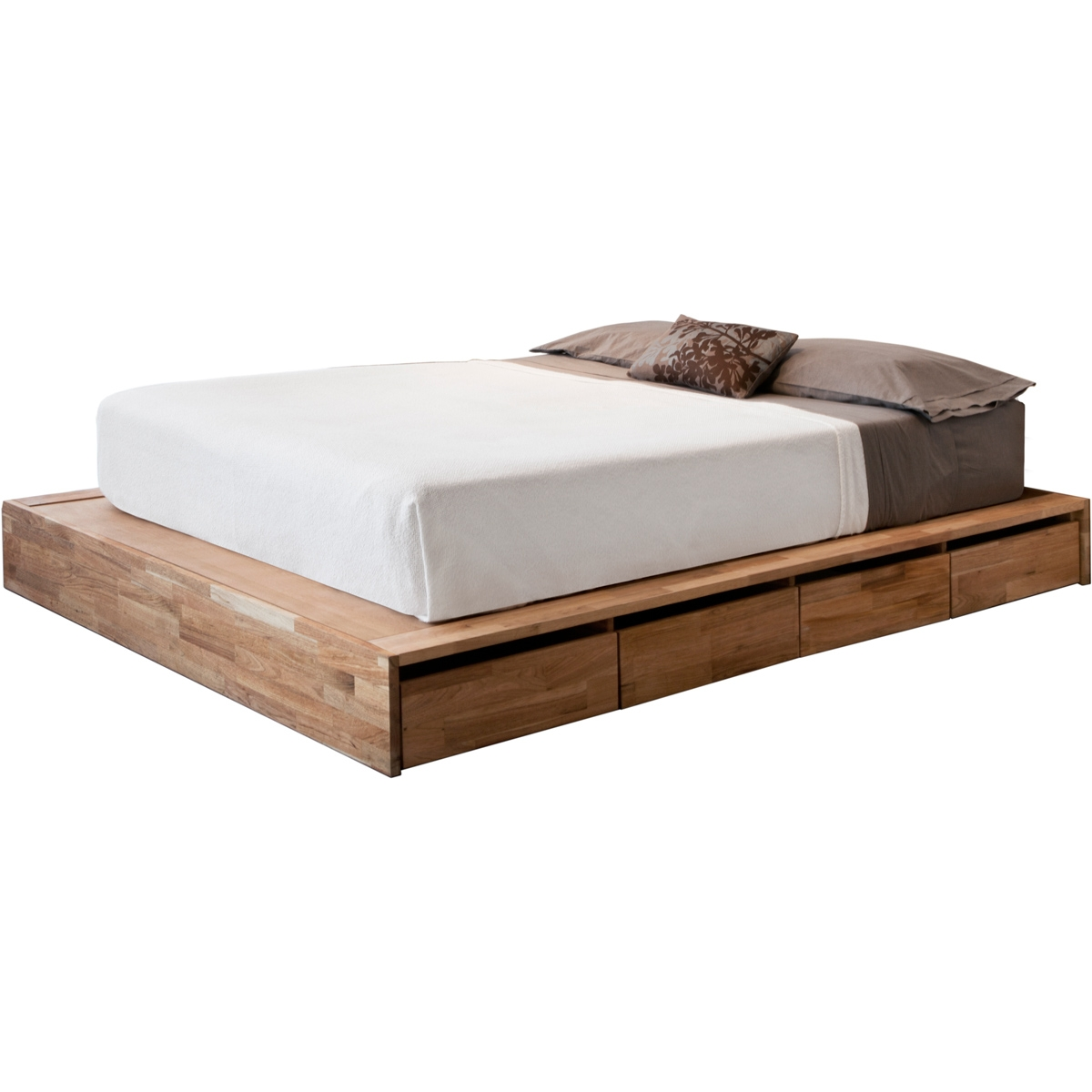 Low Bed Frame With Storage