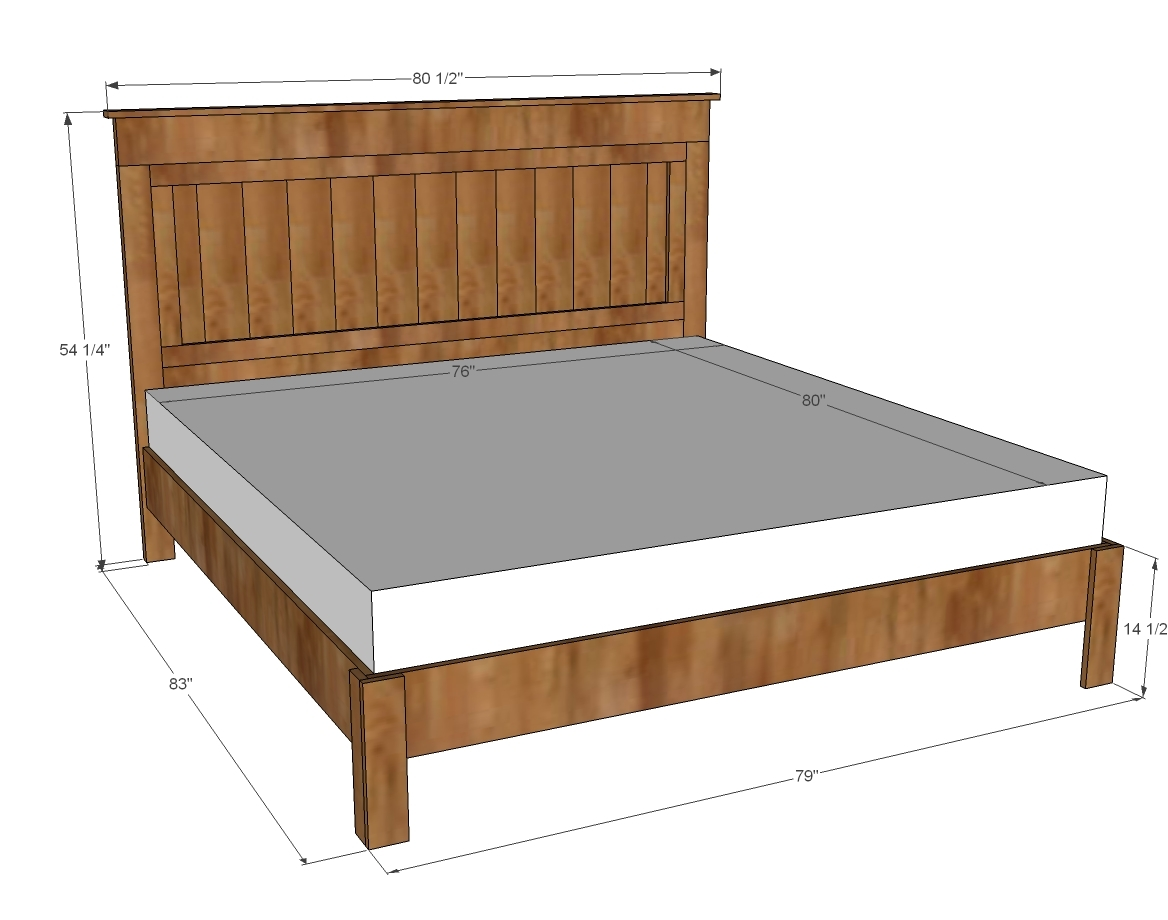Measurements For A King Size Bed Frame