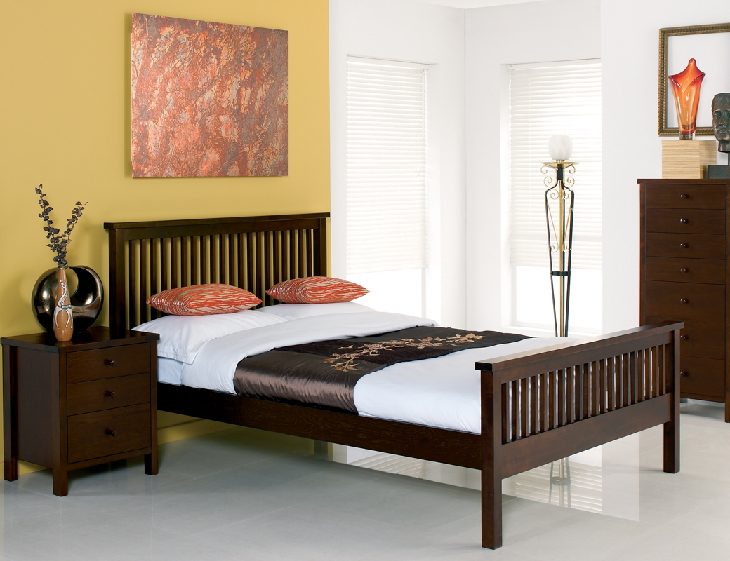 Newport Dark Solid Oak Bed Frame