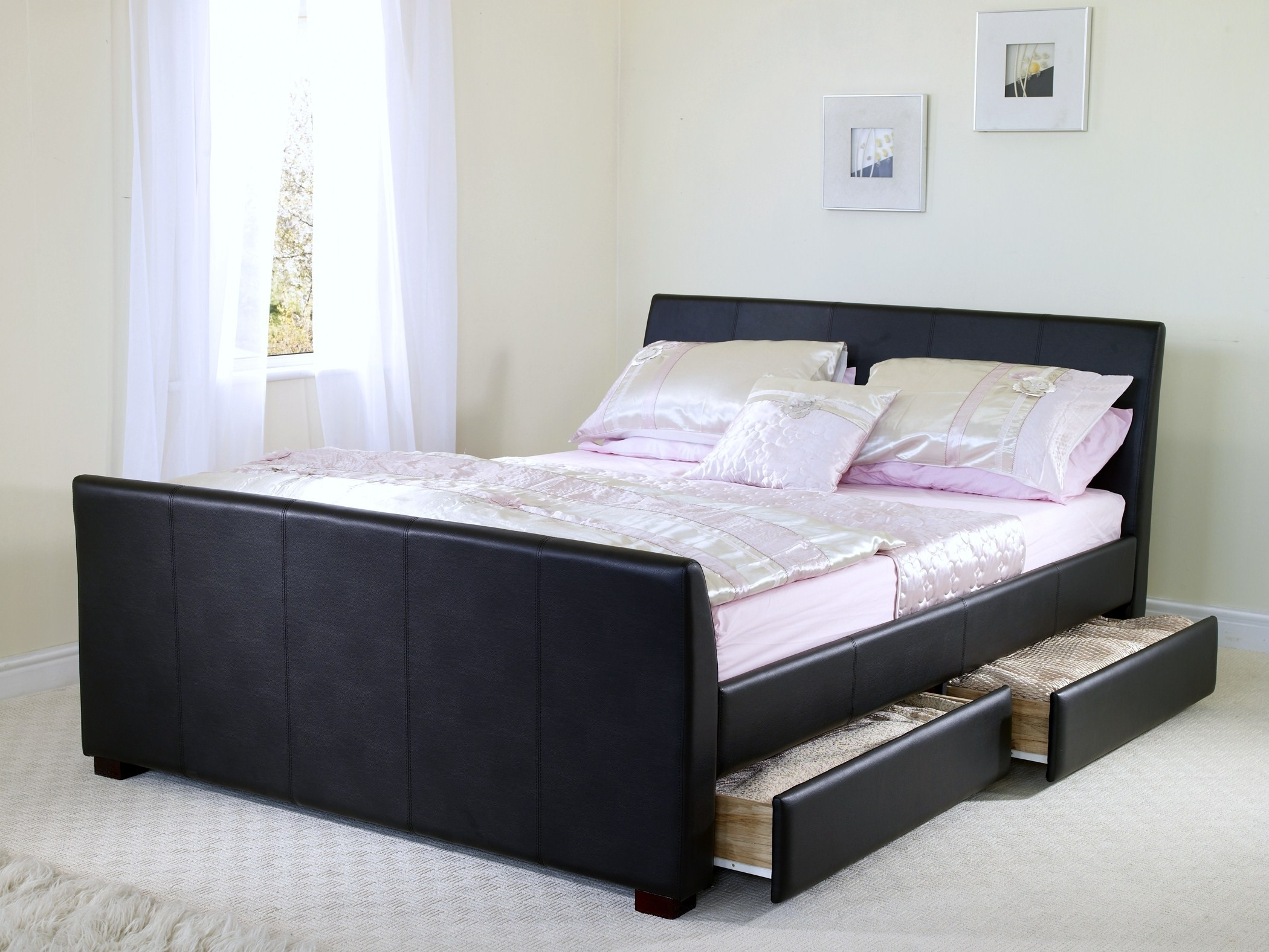 Queen Size Bed Frame With Under Bed Storage