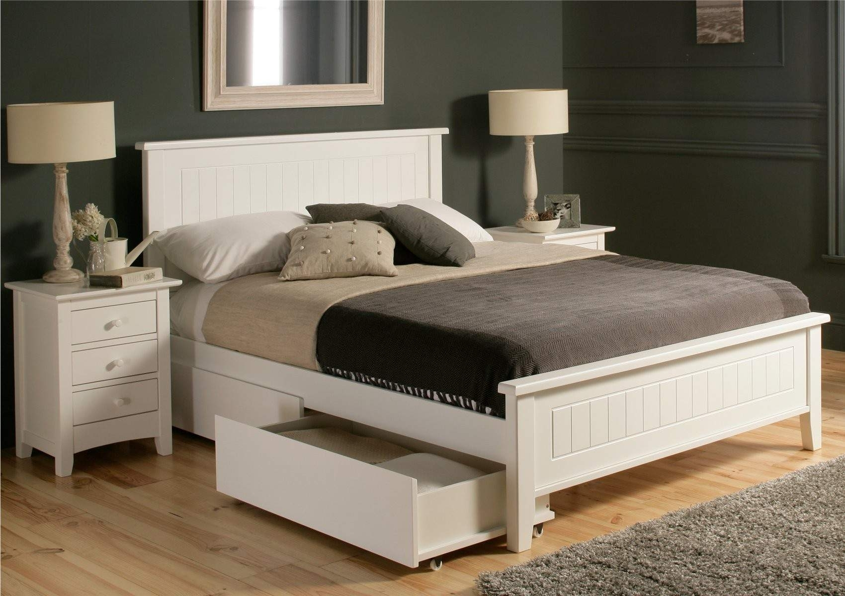 Queen Size Bed Frames With Storage Drawers