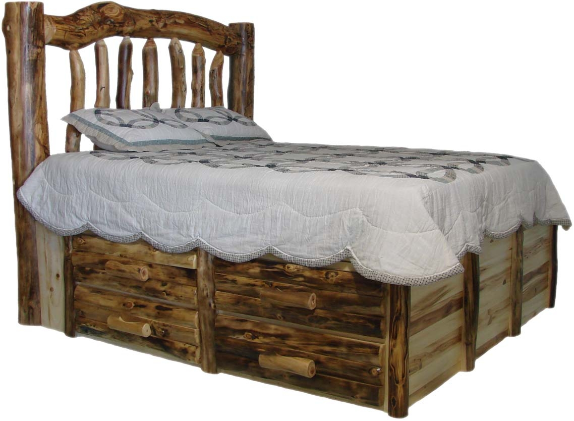 Queen Size Log Bed Frame