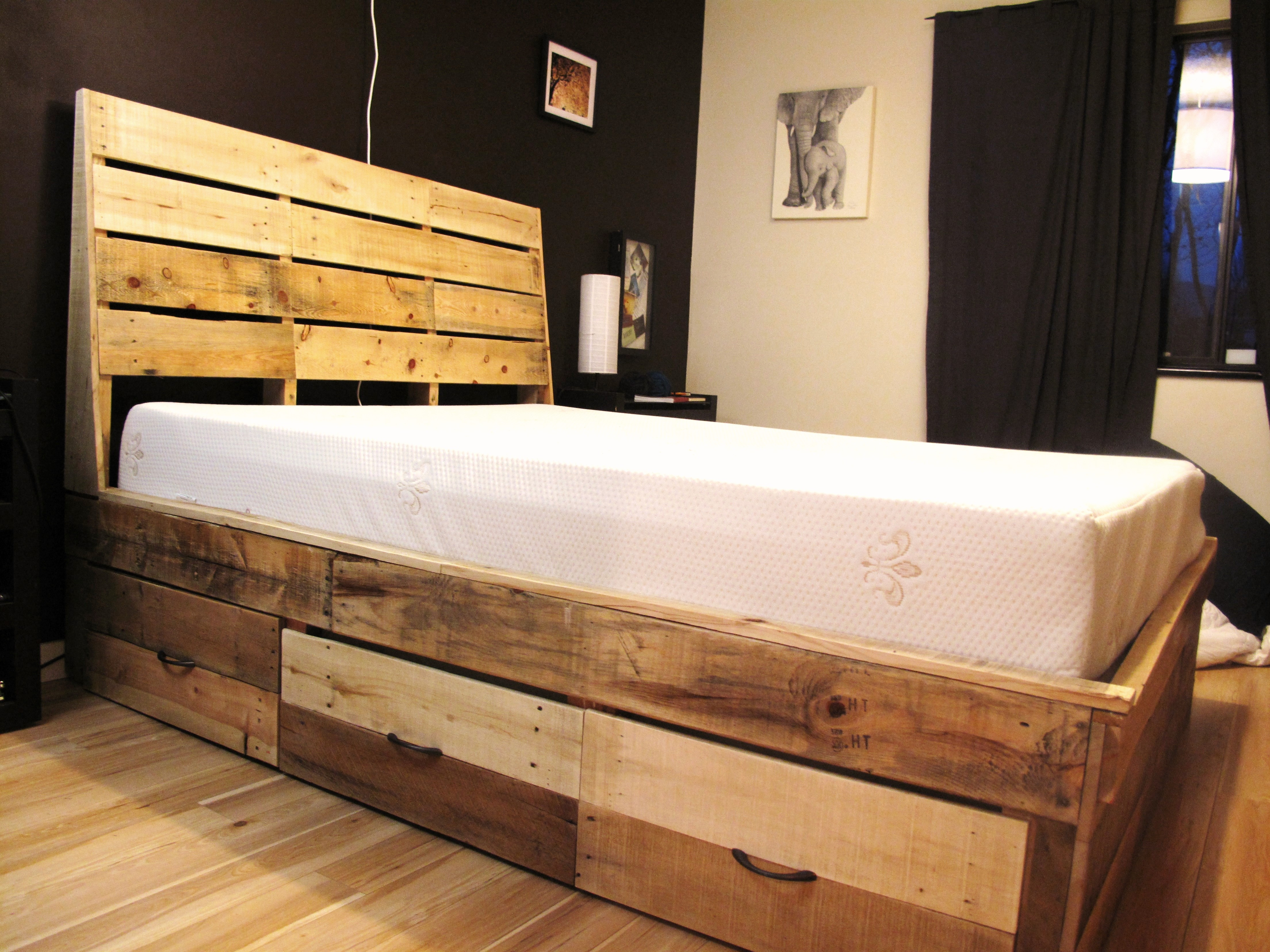 Rustic Wood Twin Bed Frame
