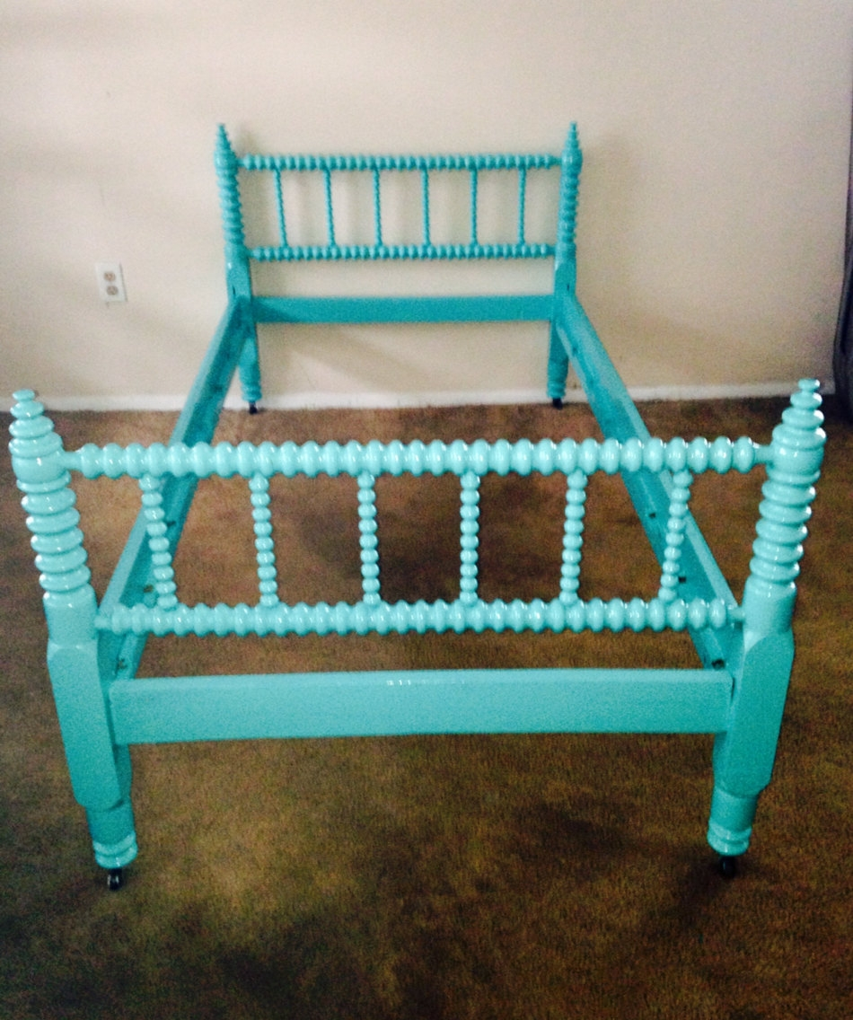 Teal Twin Bed Frame