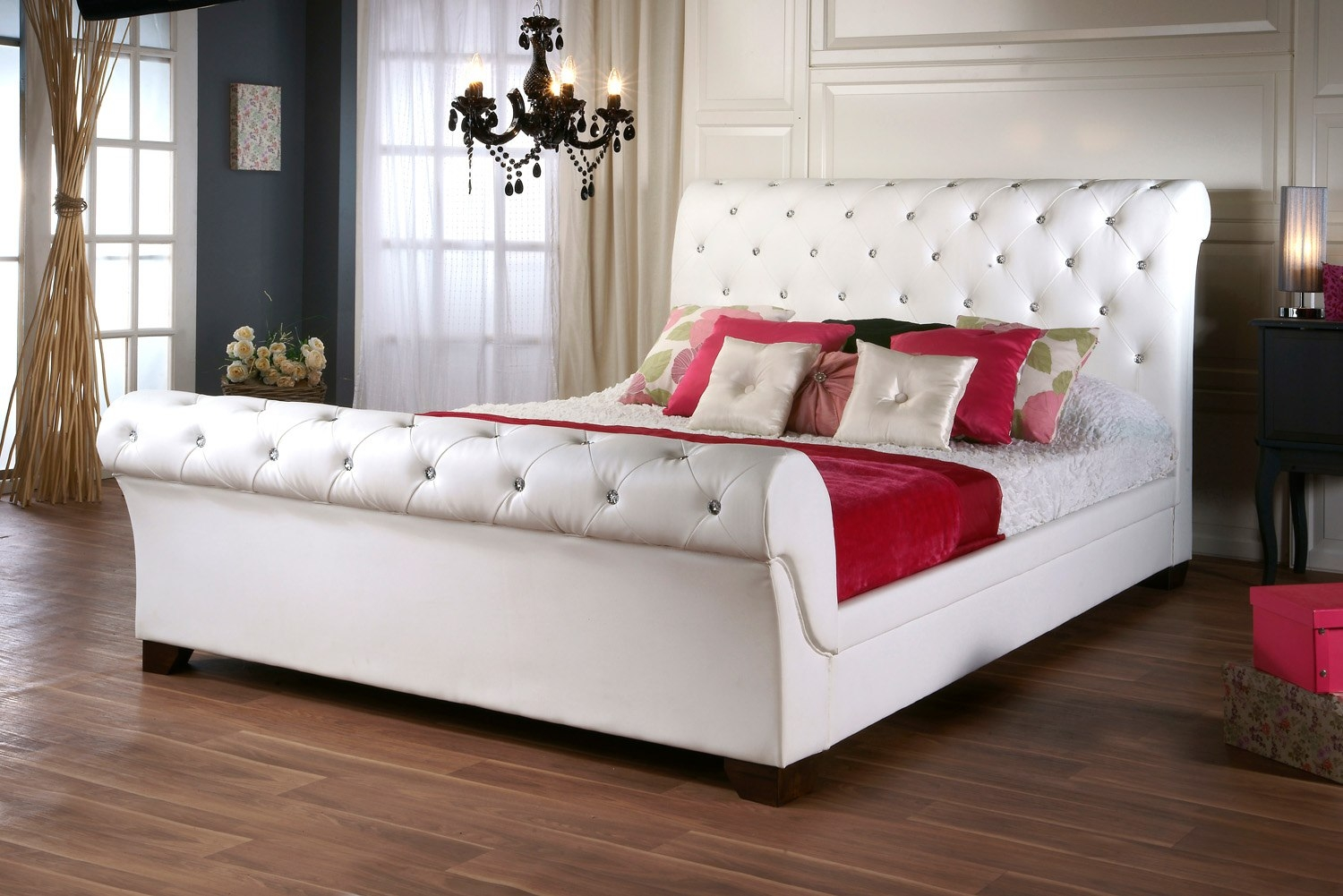 White Diamond Bed Frame