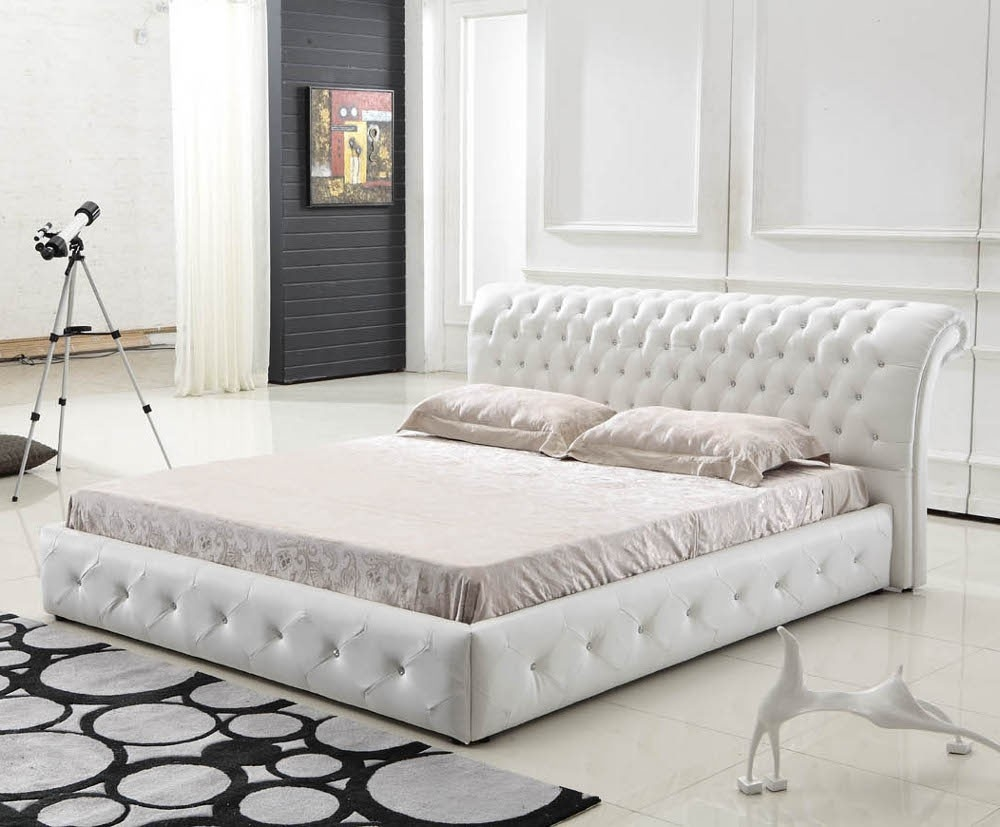 White Quilted Bed Frame