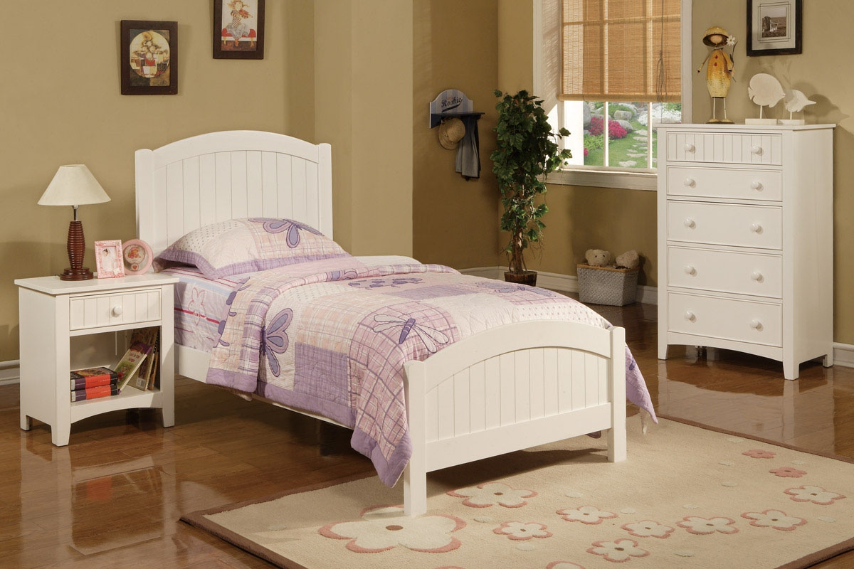 Permalink to White Wood Twin Bed Frame