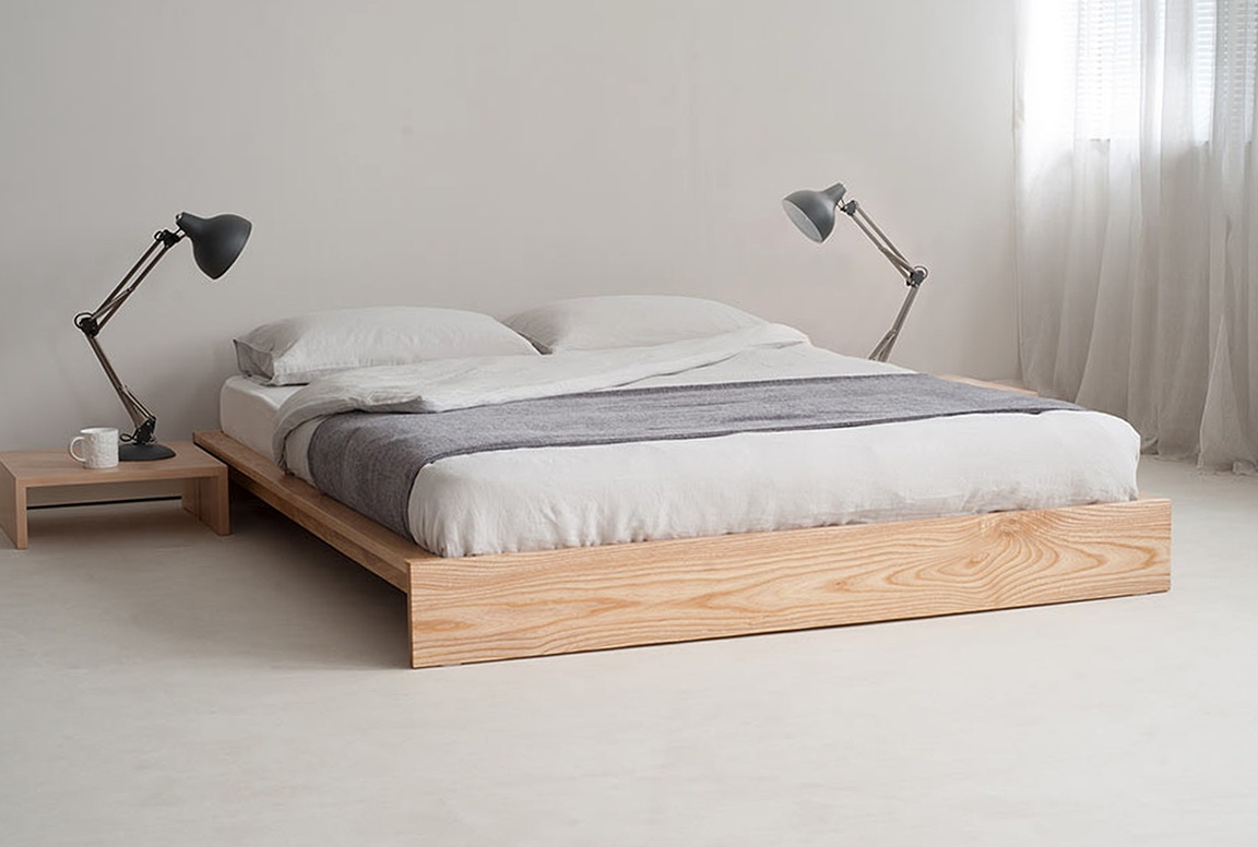 Wooden Bed Frames Without Headboard
