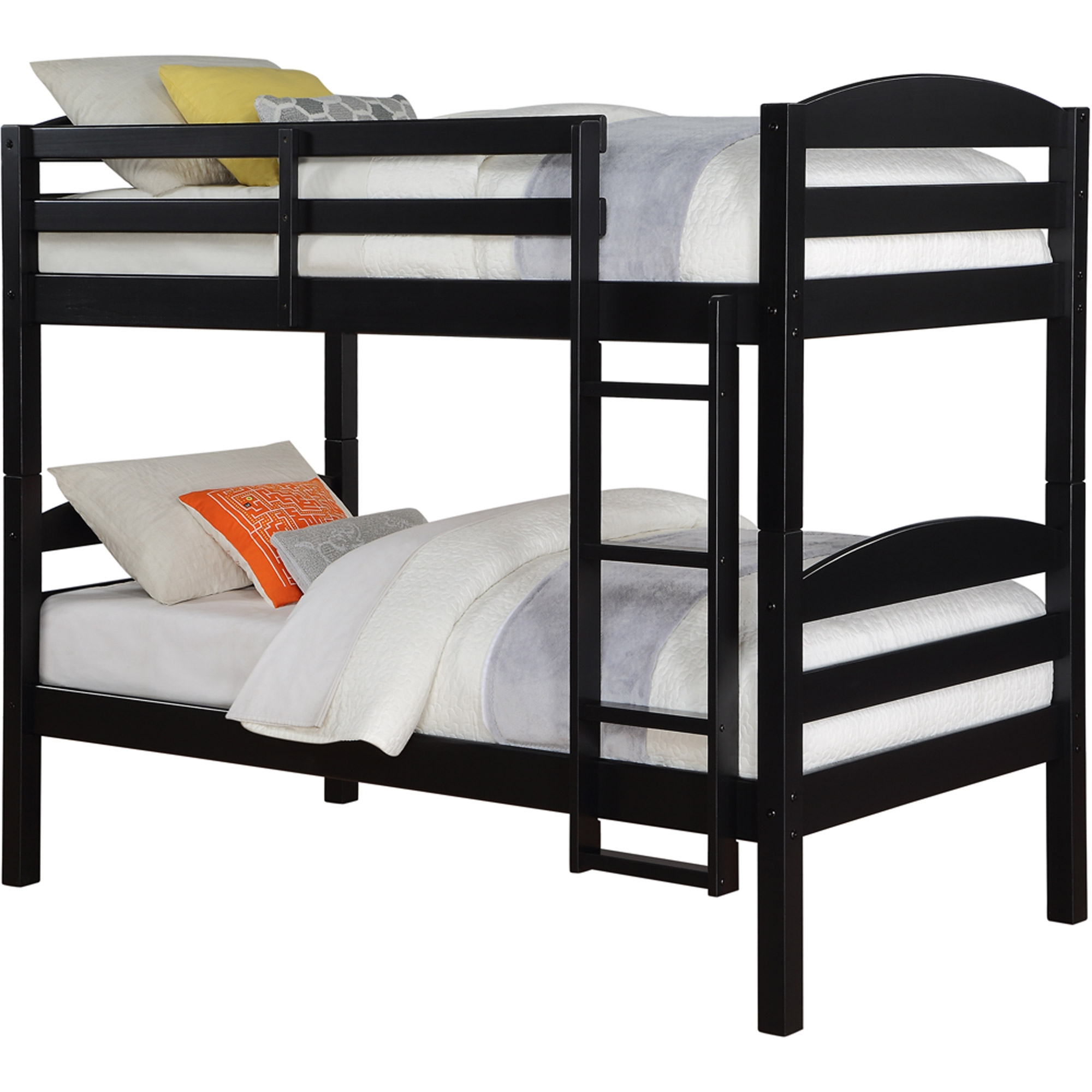 Wooden Twin Loft Bed Framemainstays twin over twin wood bunk bed multiple finishes