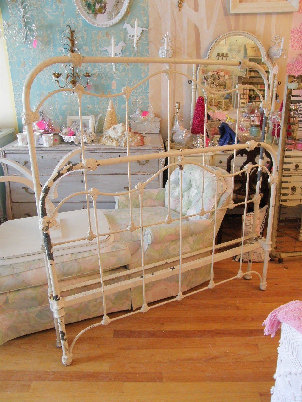 Antique Cast Iron Bed Frame