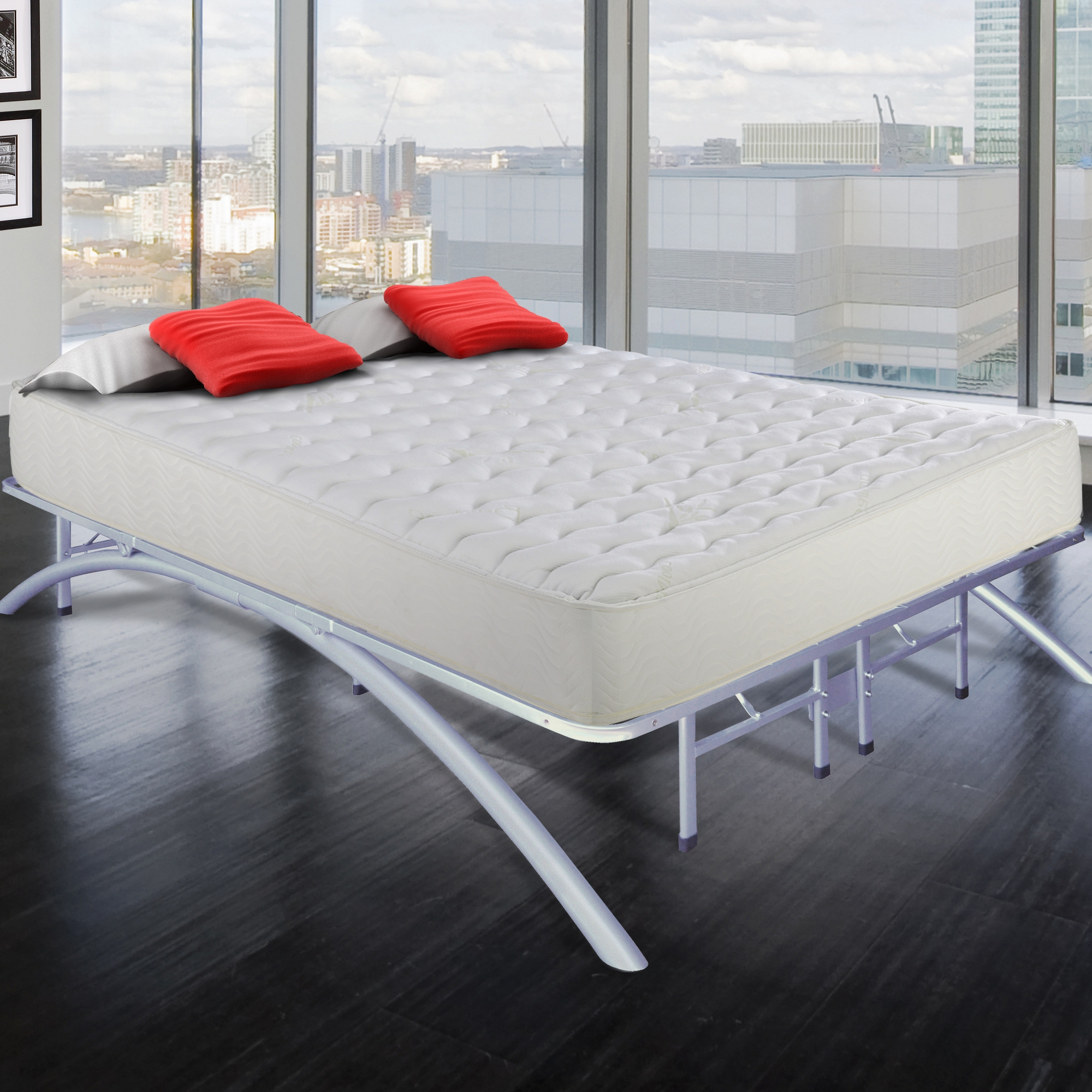 Arch Platform Bed Frame With Bow Legs