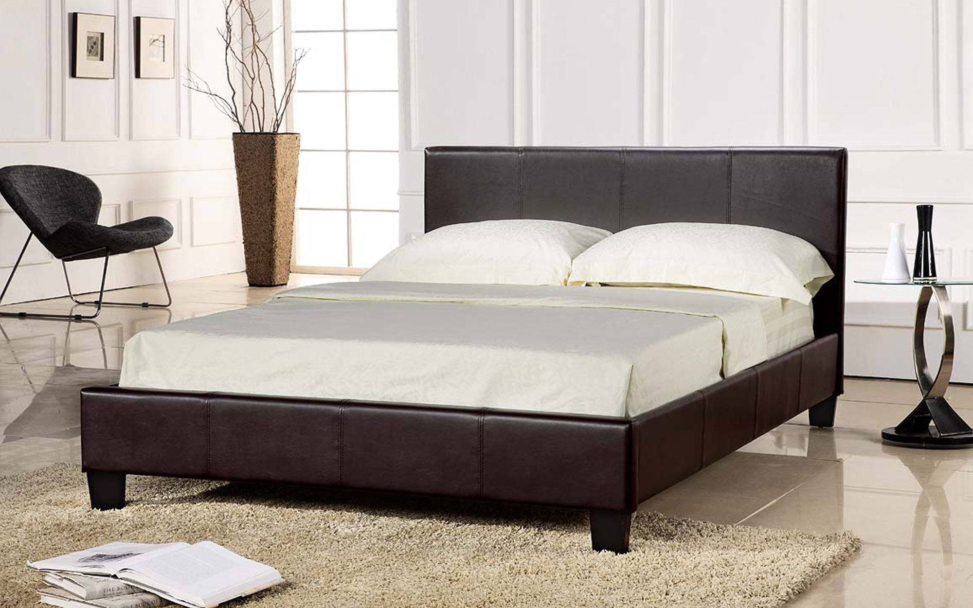 Bed Frame With Mattress Set