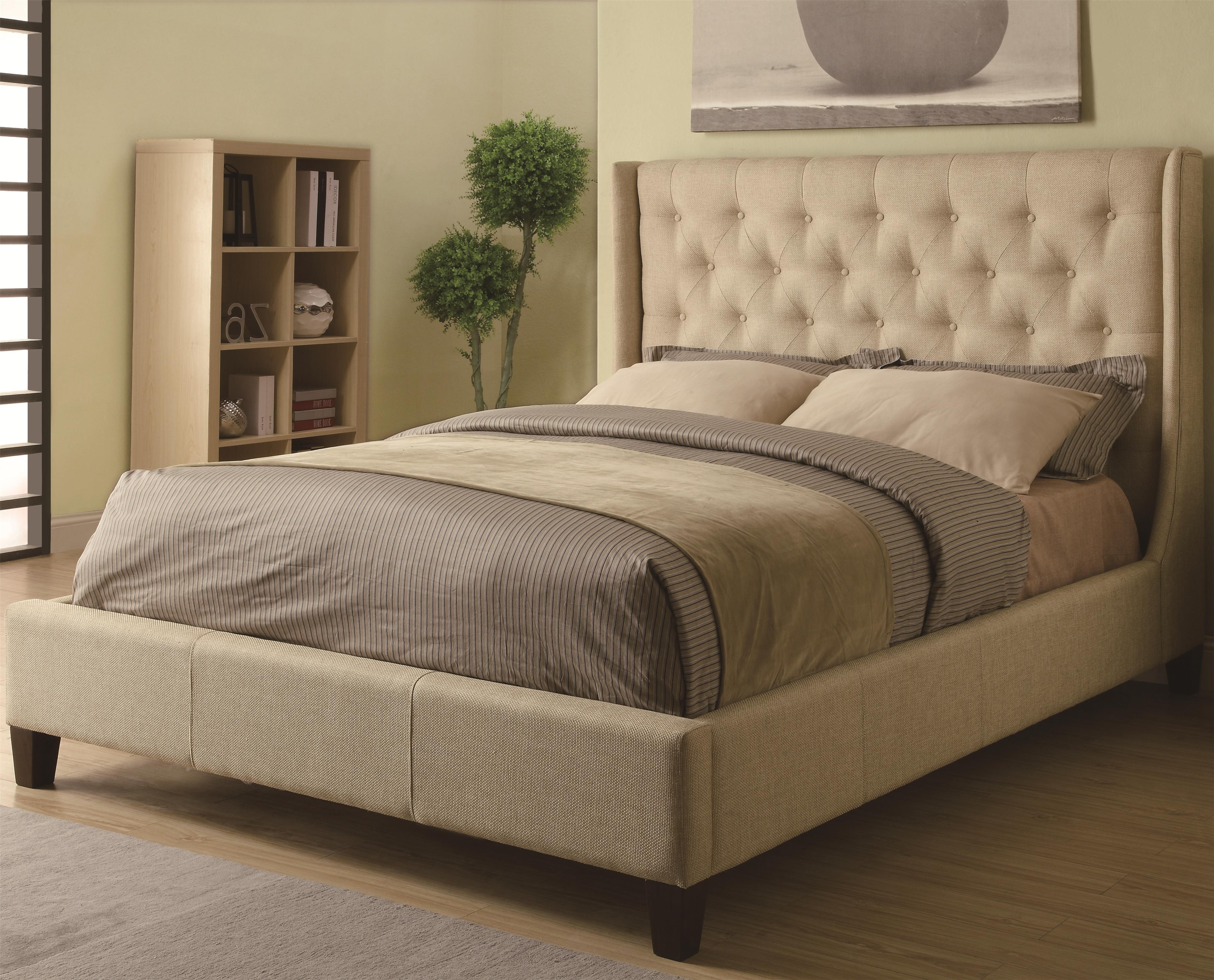 Bed Frame With Upholstered Headboard