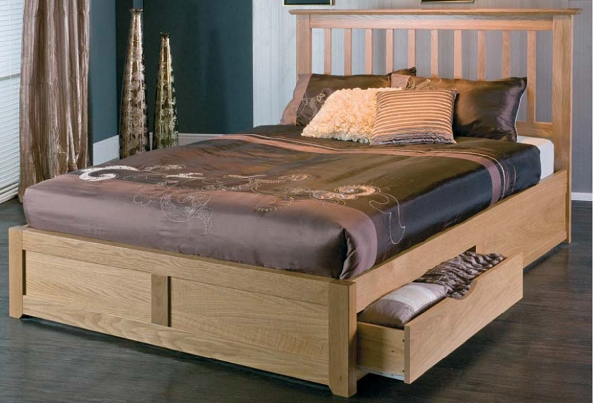 Bianca Wooden Bed Frame With Storage Drawers