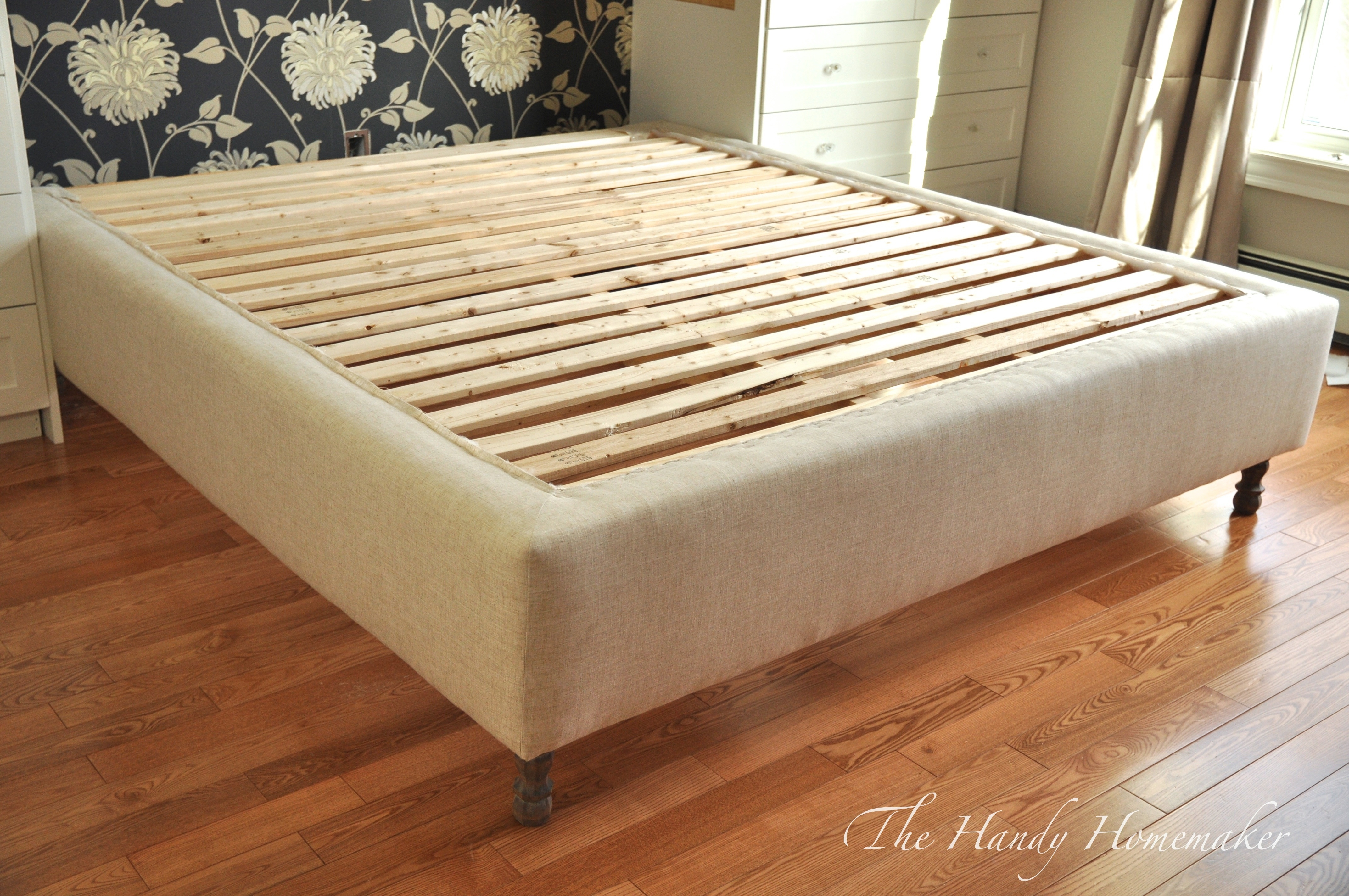 Cloth Covered Bed Frame
