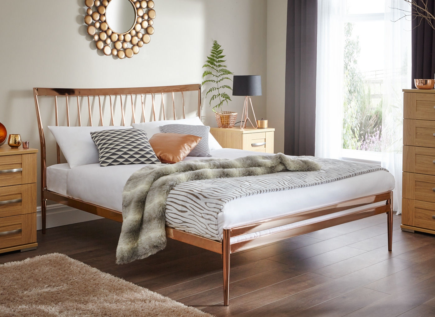Copper Bed Frame Double