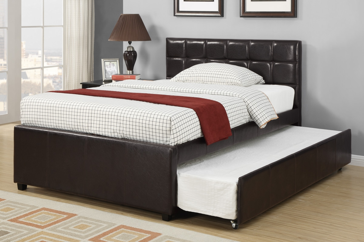 Full Bed Frame With Room For Trundle