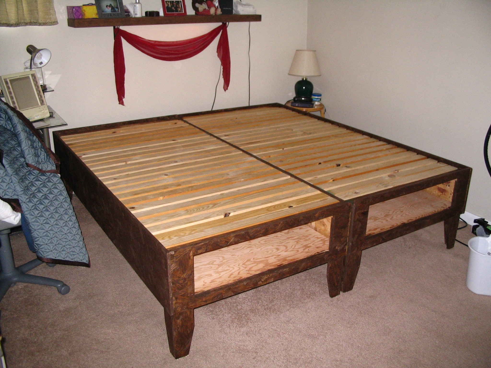 King Size Bed Frame With Drawers Underneath Plansdiy bed with storage for under 100