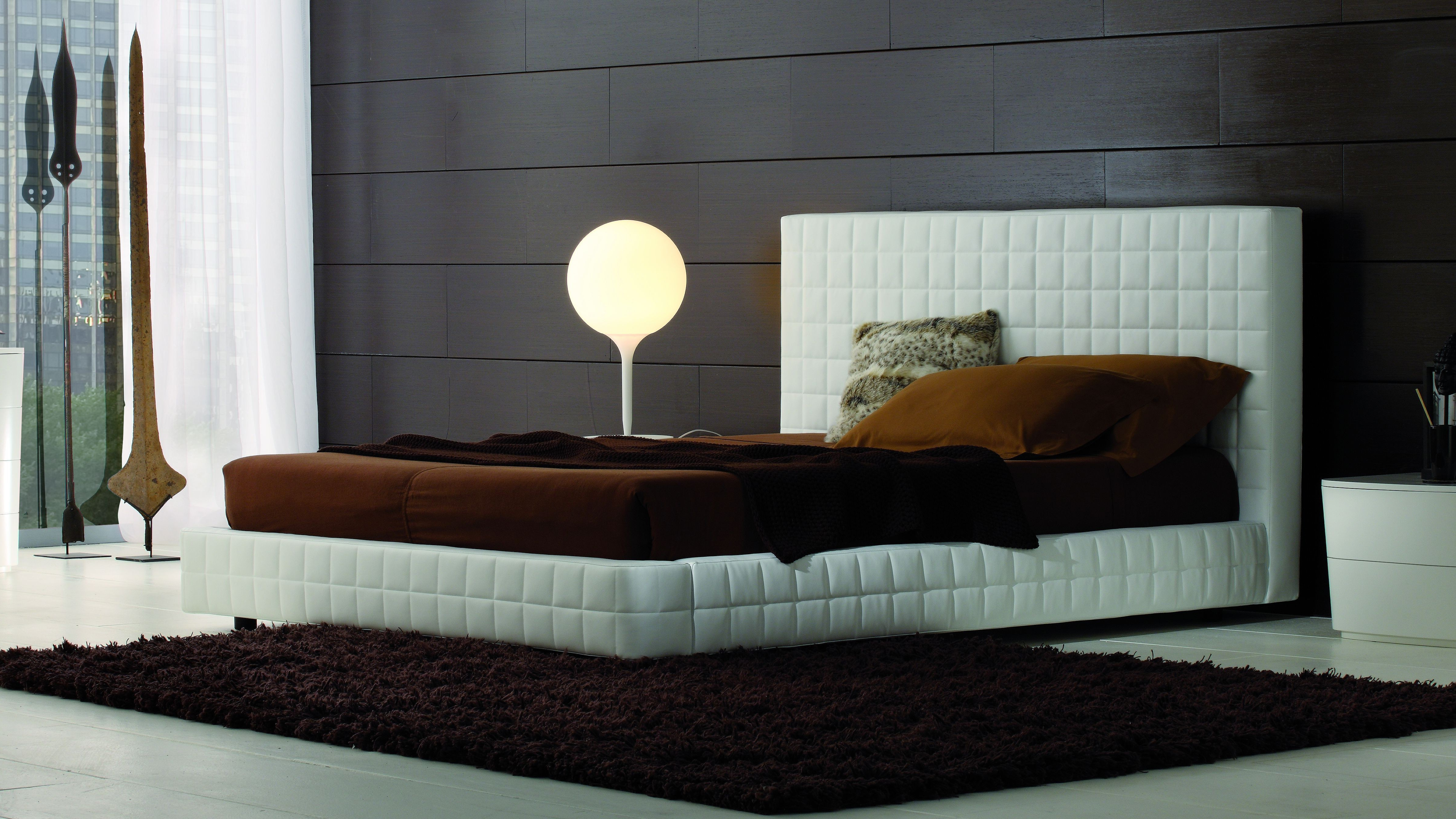 Permalink to Leather Bed Frame High Headboard