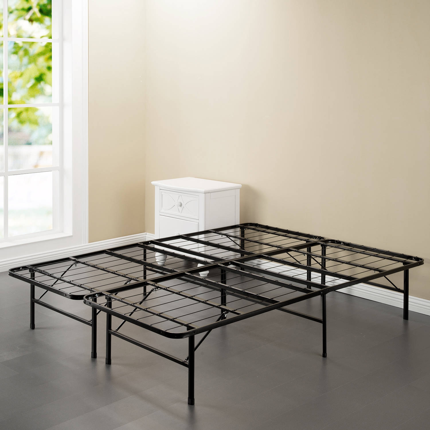 Permalink to Metal Bed Frame With Storage Space