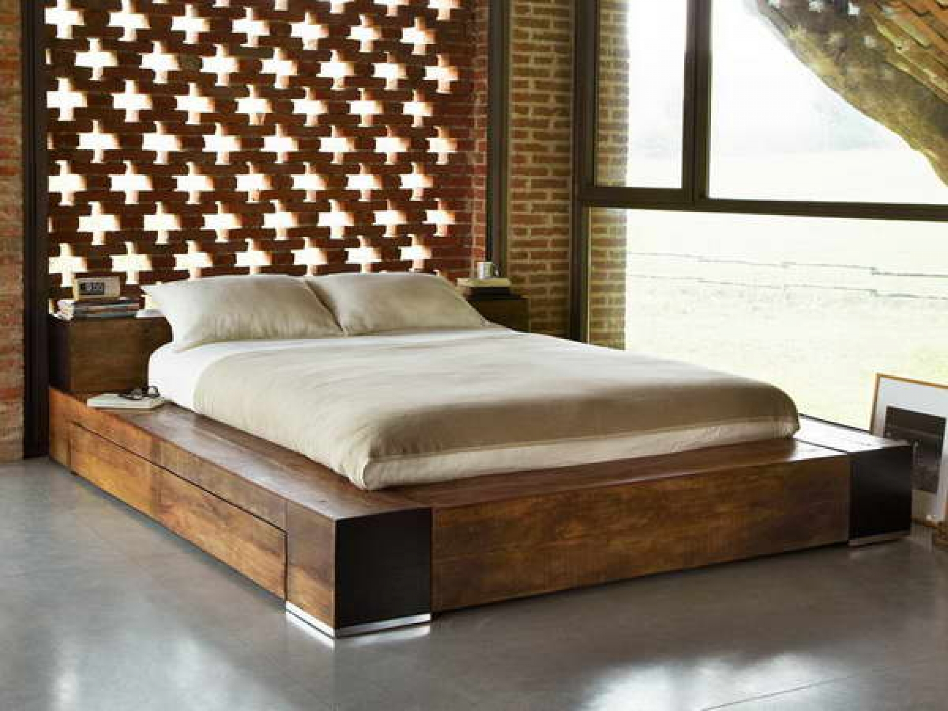Natural Wood Bed Frame Ideas