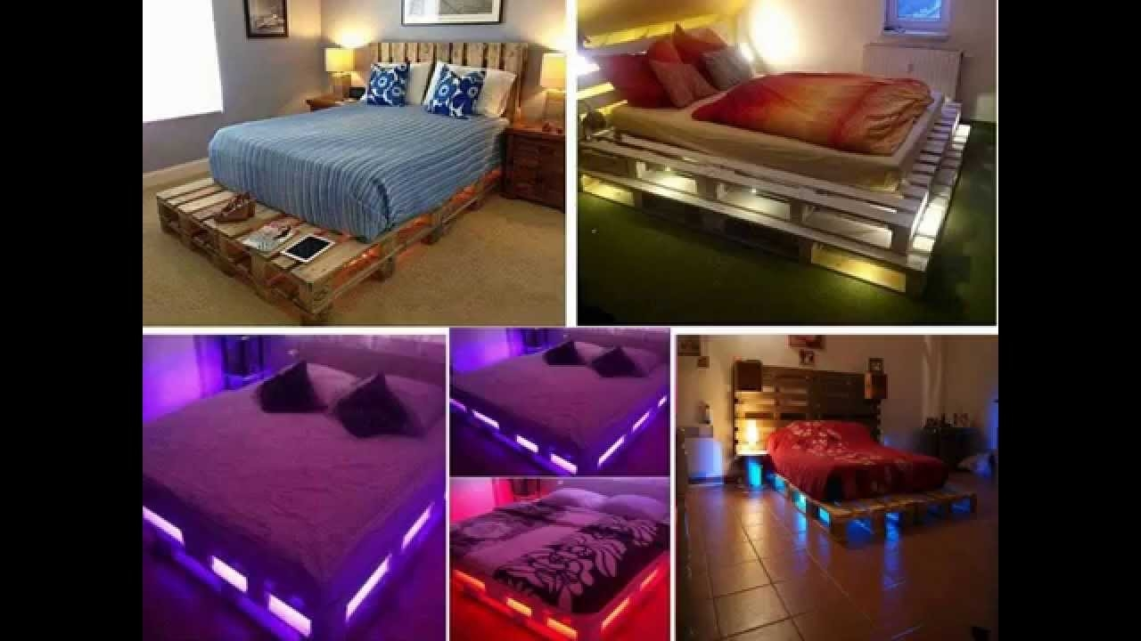Pallet Bed Frame With Lights Underneath
