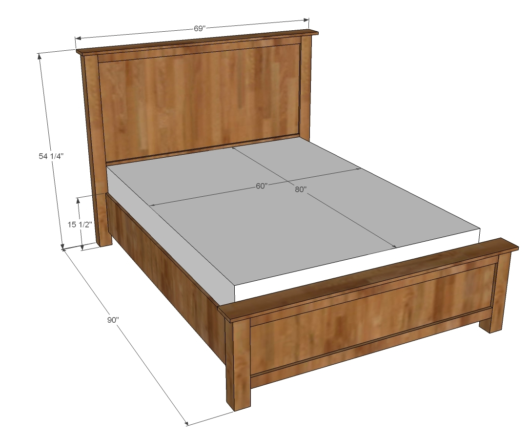 Queen Size Wooden Bed Frame Plans