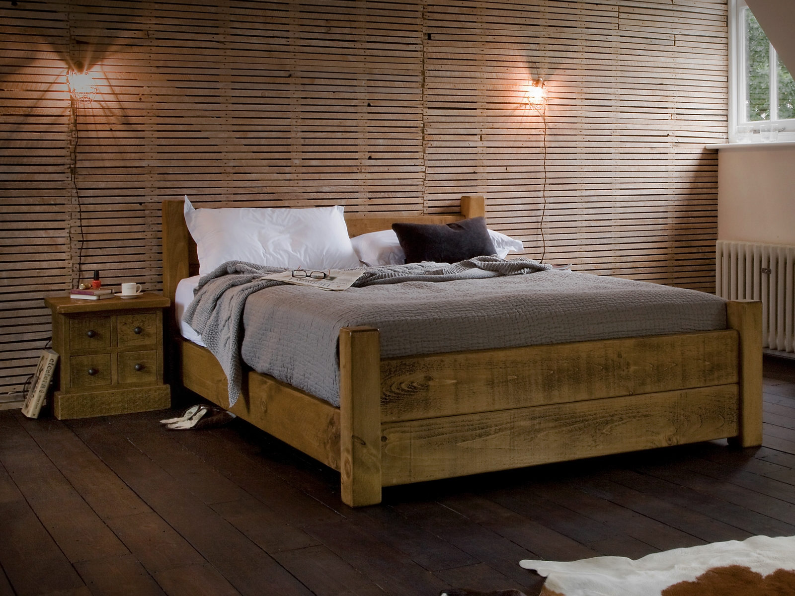 Real Wood Bed Frames