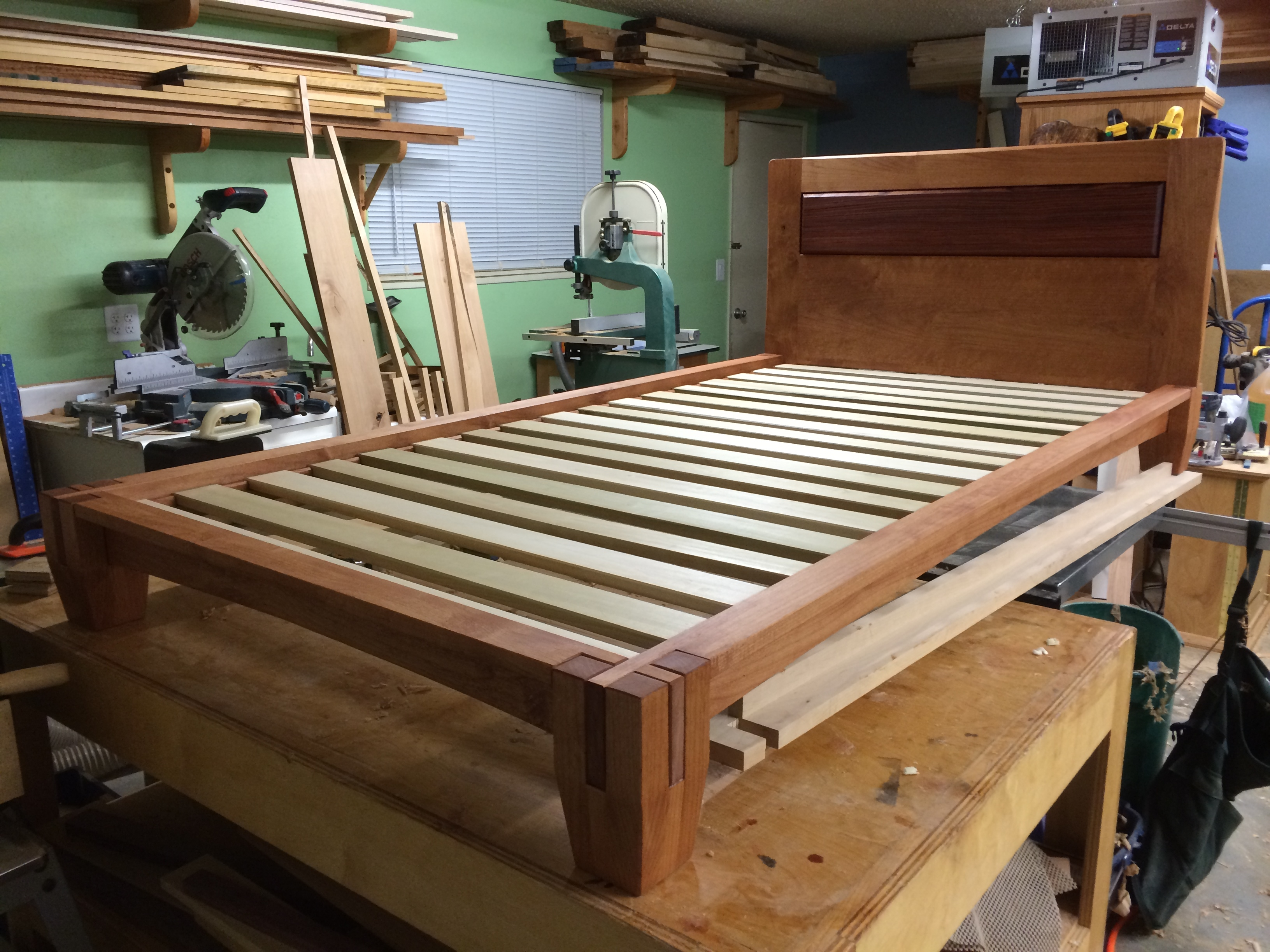 Tall Tatami Platform Bed Frame