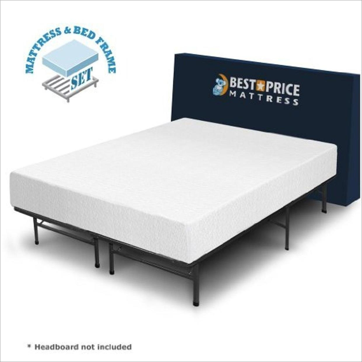 Twin Bed Frame With Mattress Set