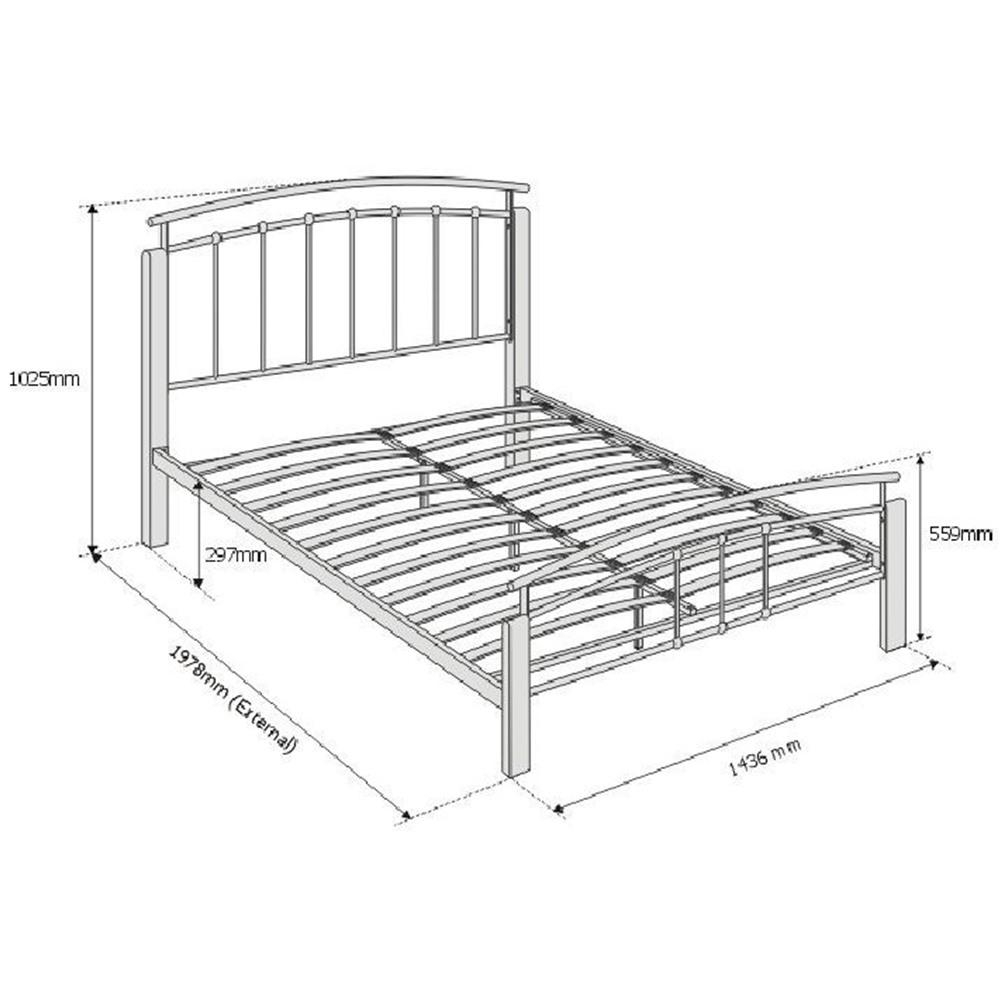 Wood And Metal Double Bed Frame