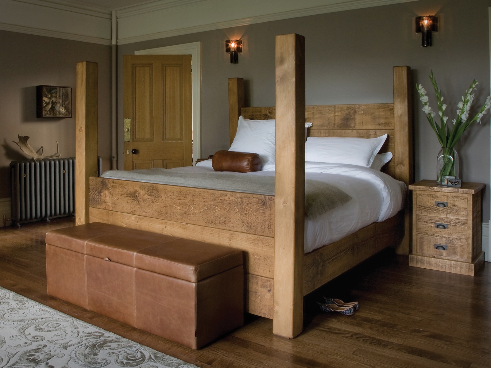 Wood Four Post Bed Frames