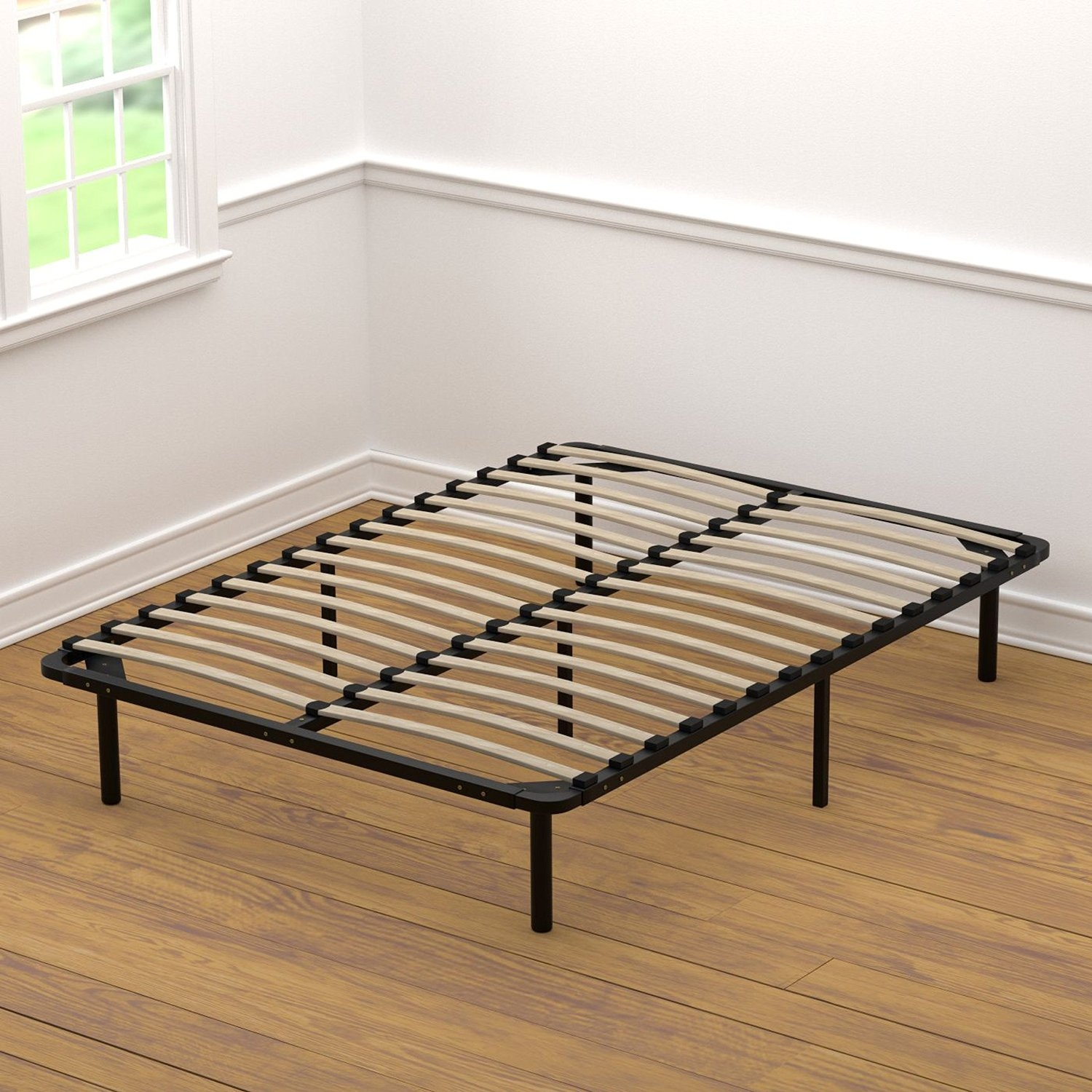 Wood Slat Bed Frame Full