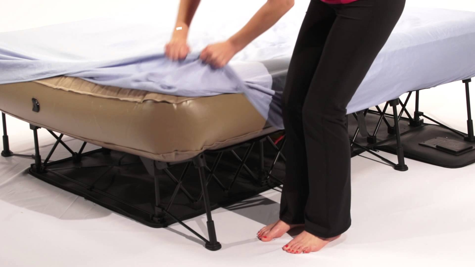 Air Bed With Frame And Pump
