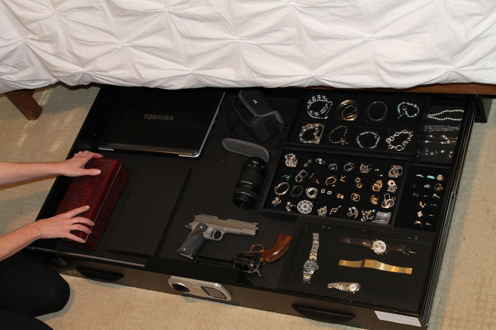Bed Frame Mounted Gun Safe