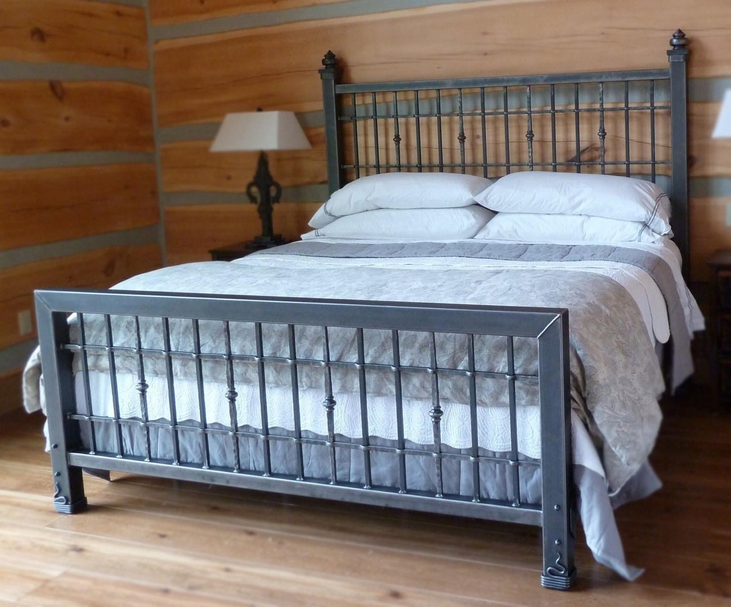 Blue Iron Bed Frame