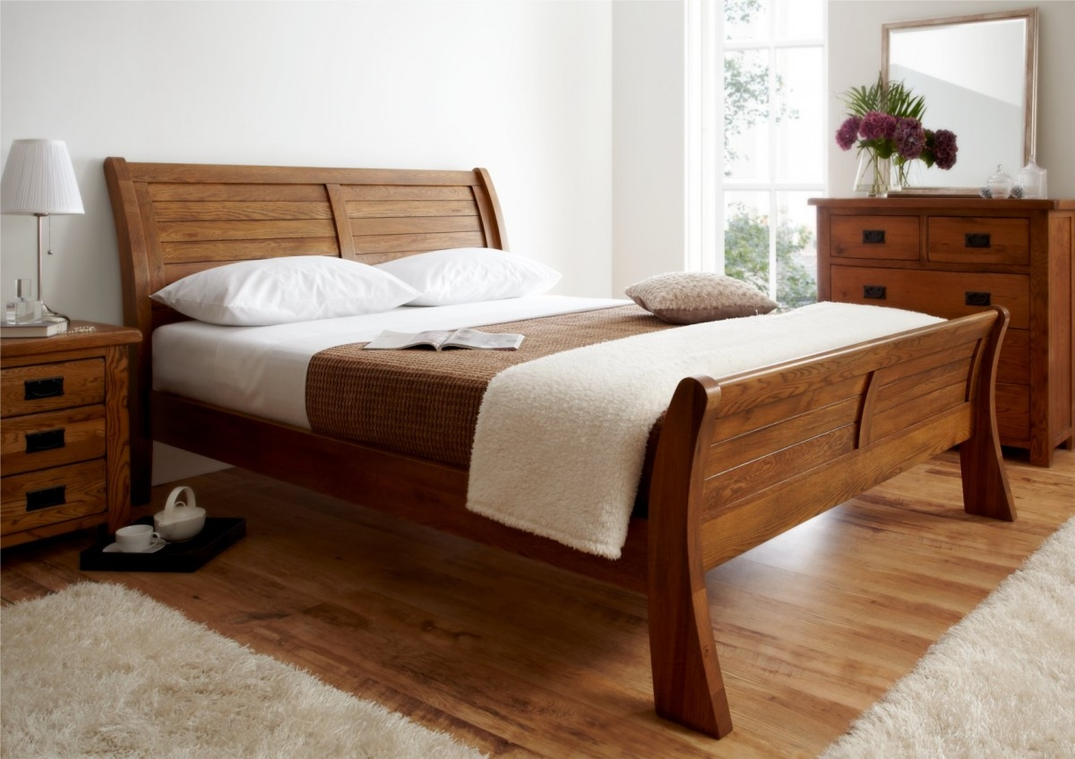 Dark Wood King Size Bed Frame1200 X 847