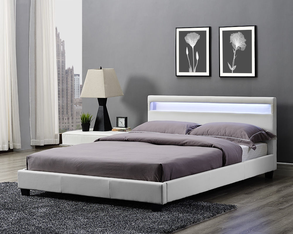 Double Bed Frame With Led Lights