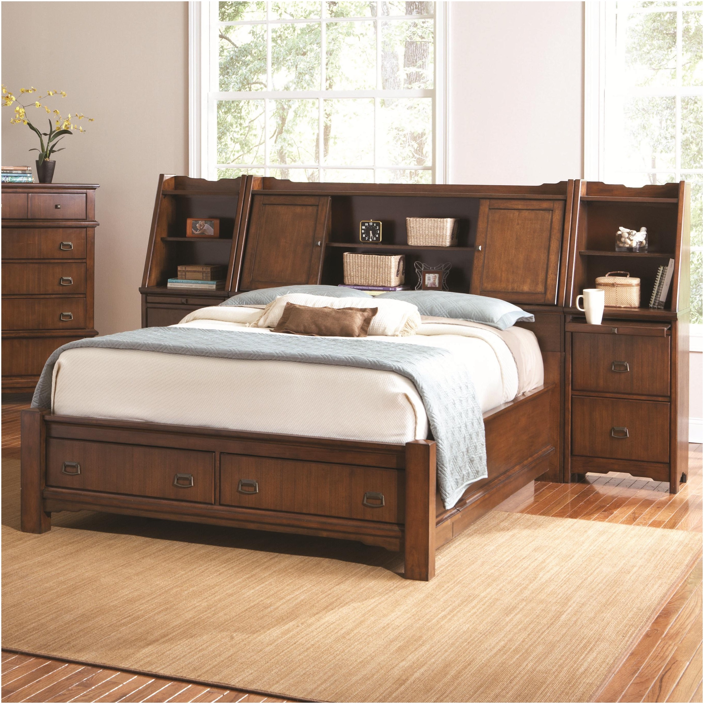 Permalink to Double Bed Frame With Storage Headboard