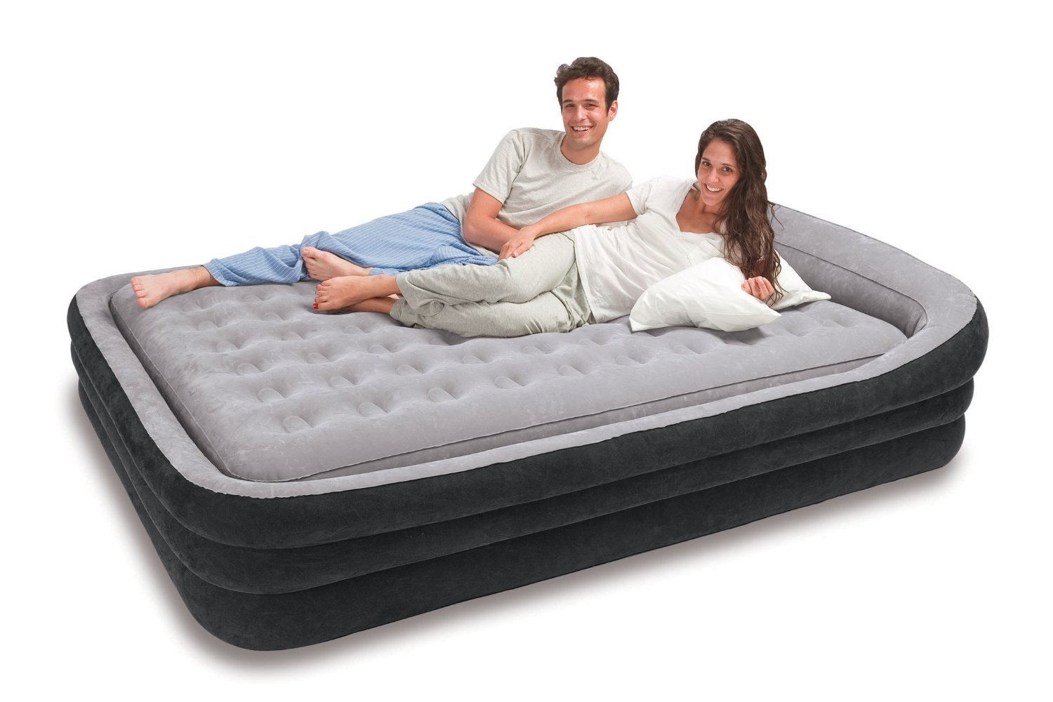 Double Blow Up Bed On Frame