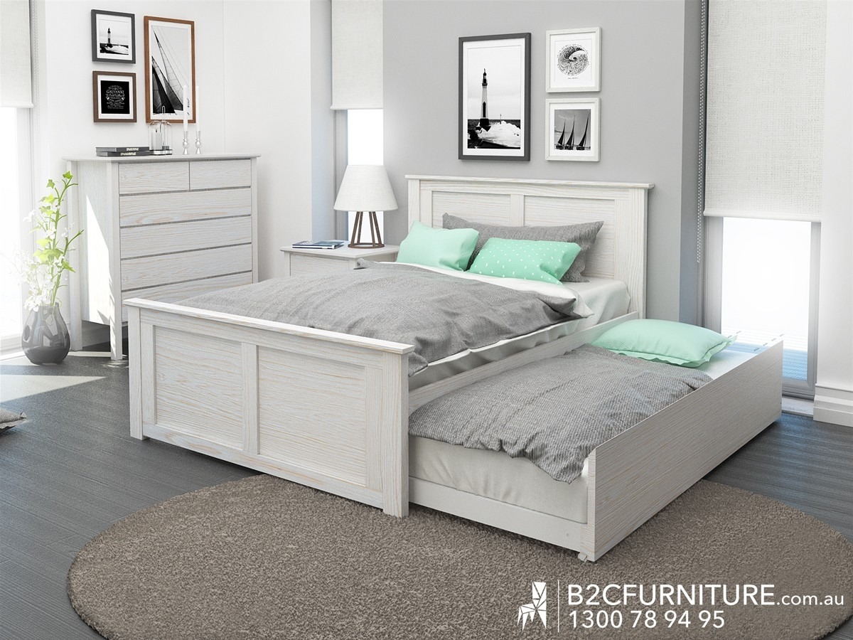 Double Trundle Bed Frame