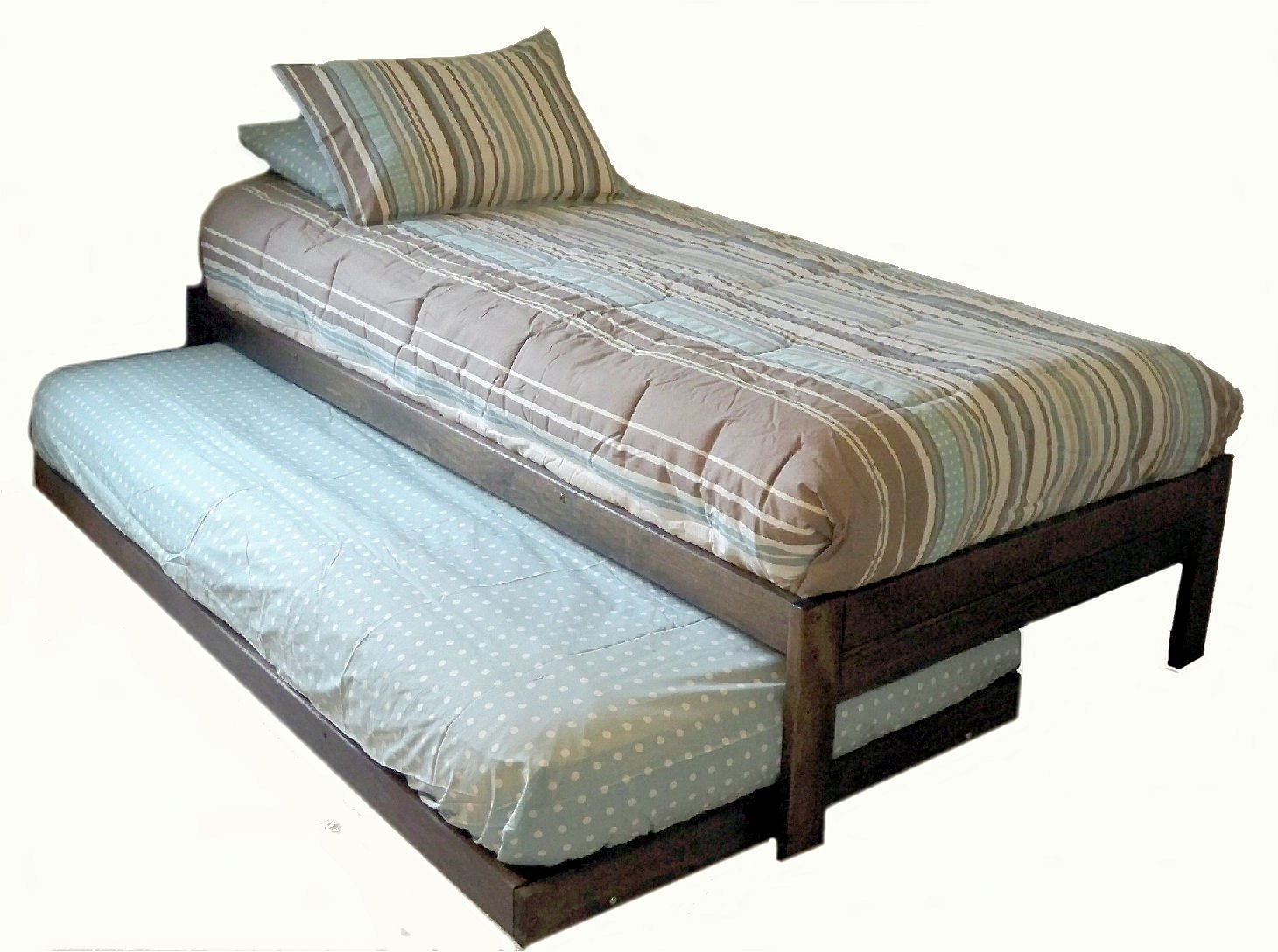 Extra Long Twin Bed Frame With Pop Up Trundle