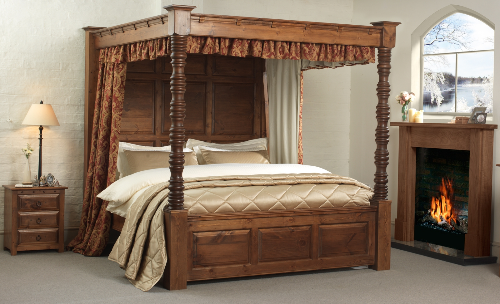 Permalink to Four Post Canopy Bed Frame