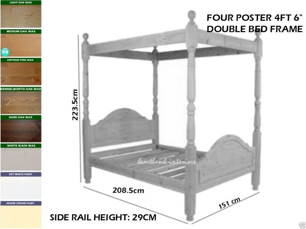 Four Poster Super King Size Bed Frame