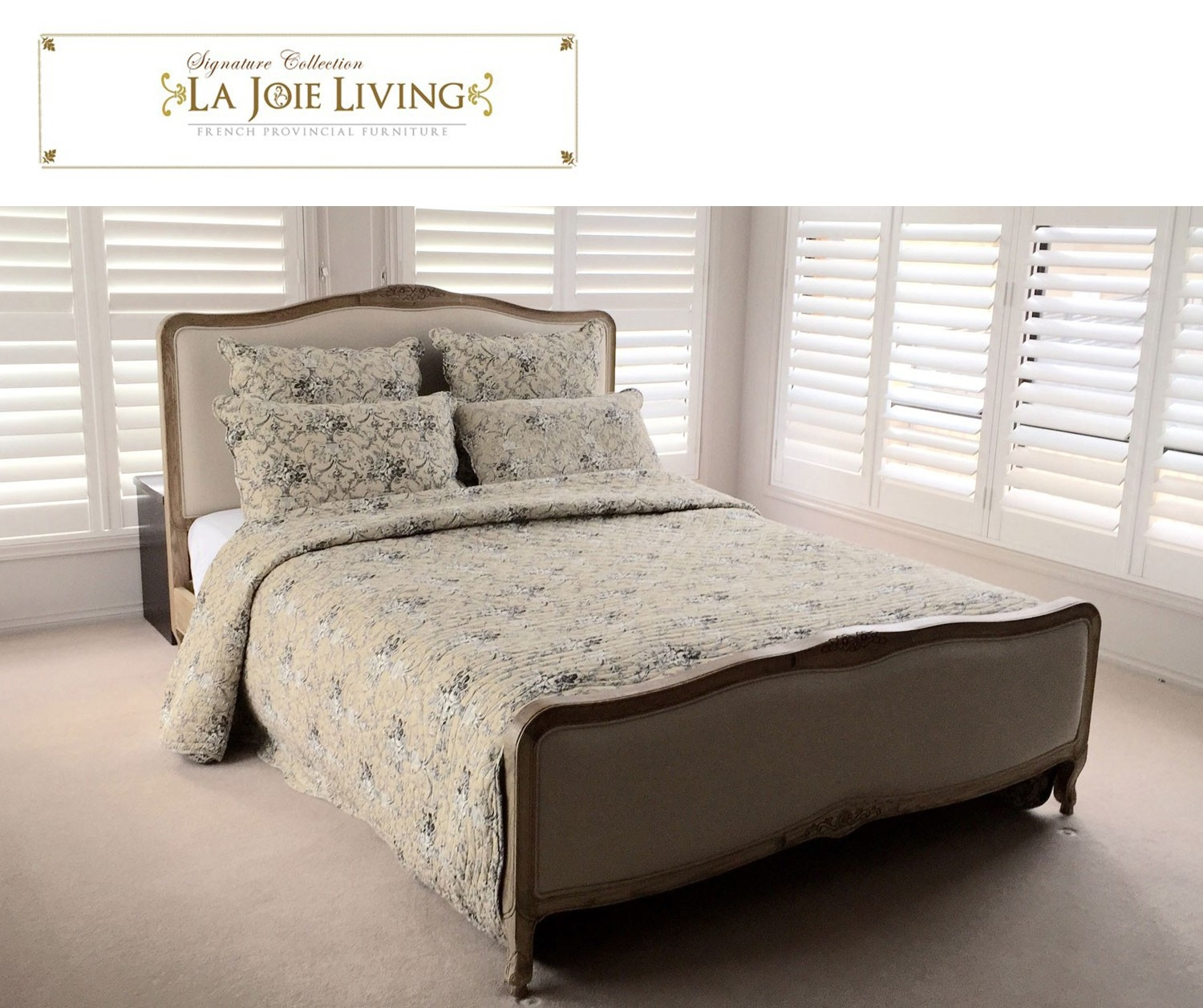 French Provincial King Size Bed Frame
