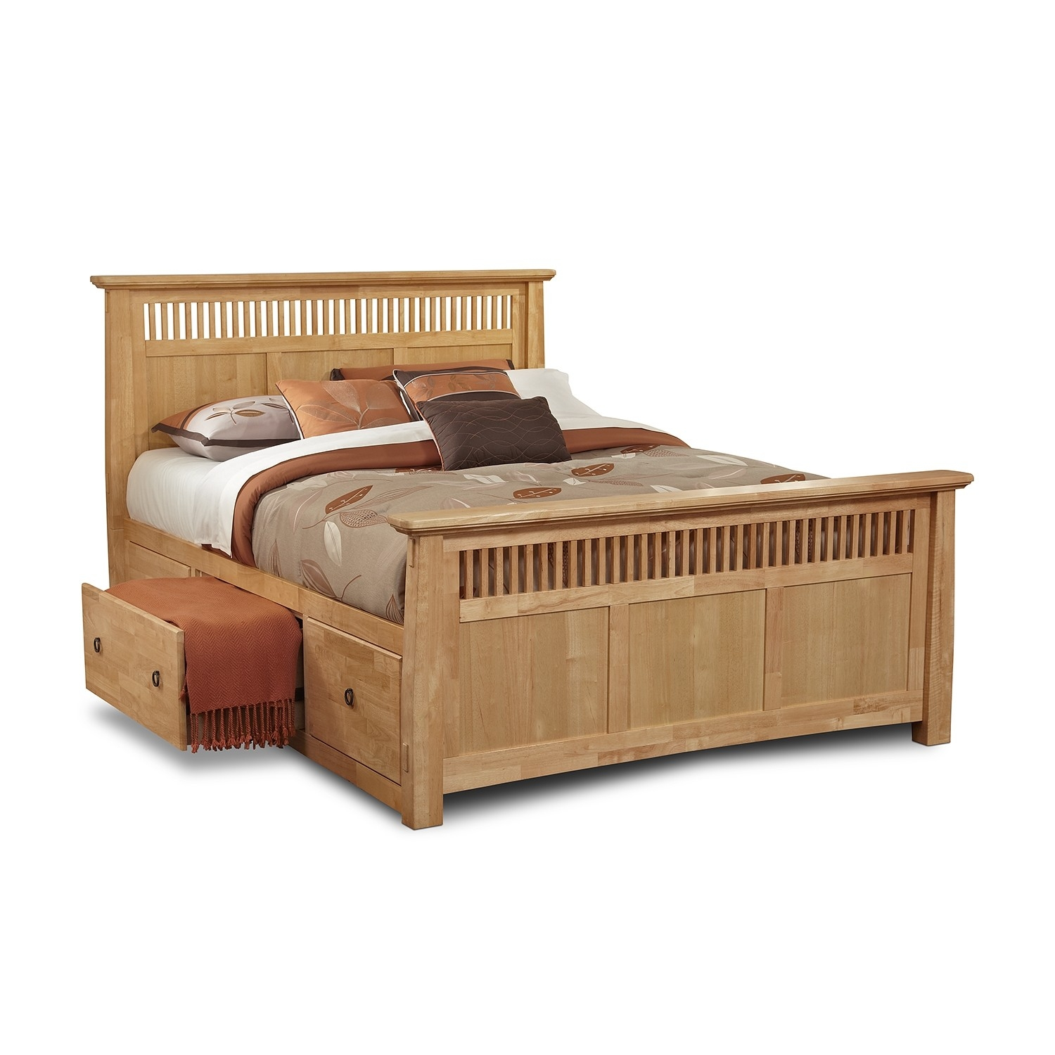 Full Bed Frame With Storage Drawers