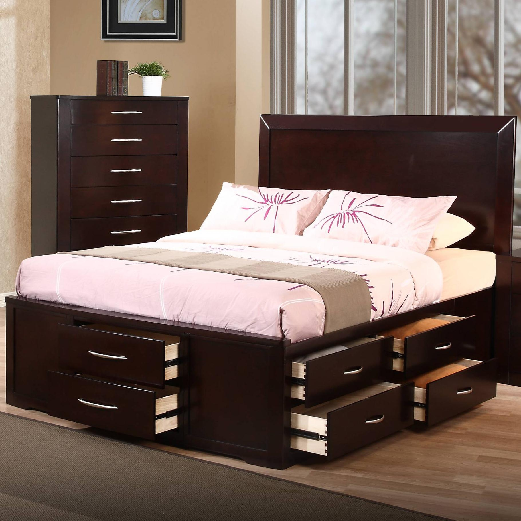 Full Size Bed Frame With Storage Drawers