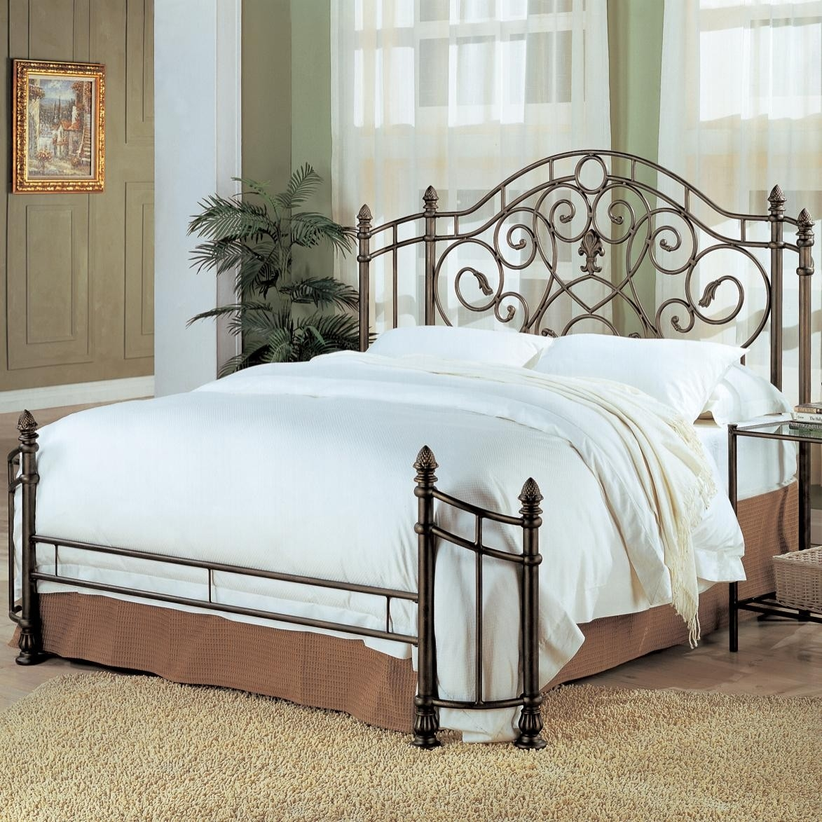 Green Metal Bed Frame