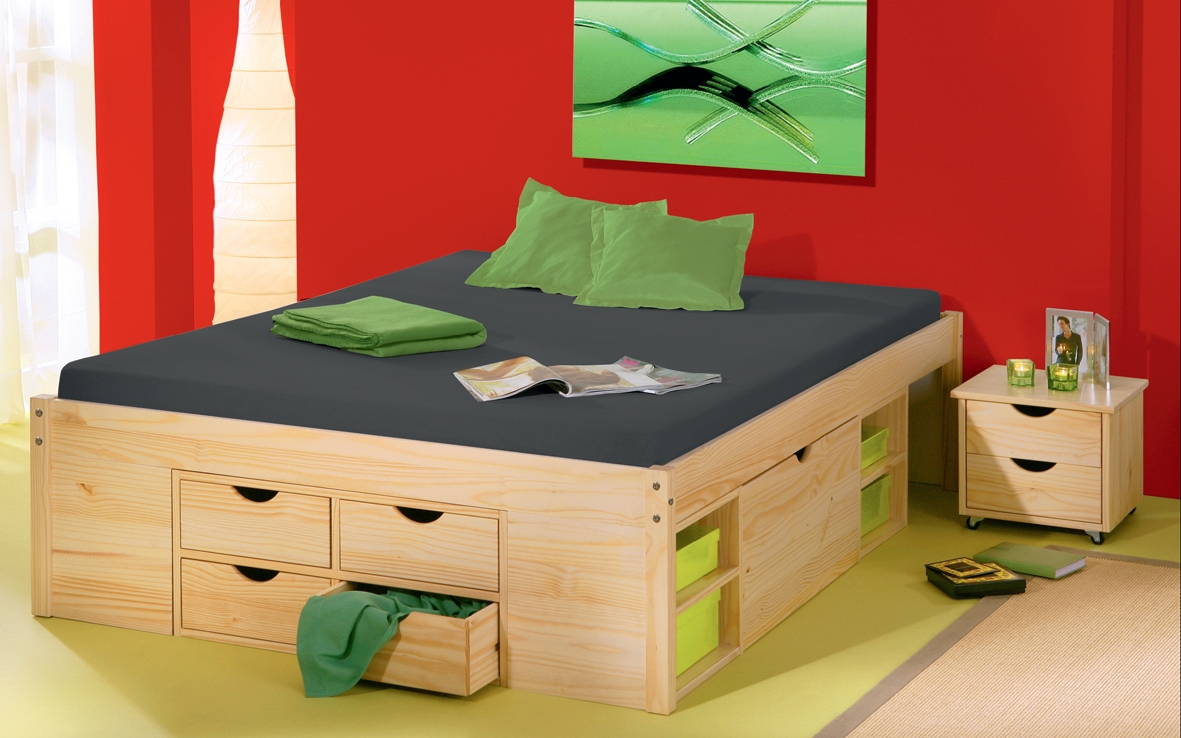 Permalink to High Double Bed Frame With Storage